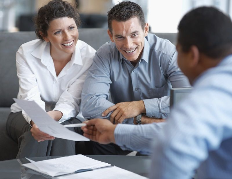 ABI Personal Commercial Financial Couple Paperwork Meeting Advisor cm