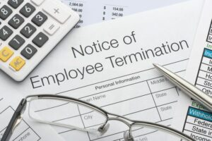Close up of Employee termination form cm 300x200
