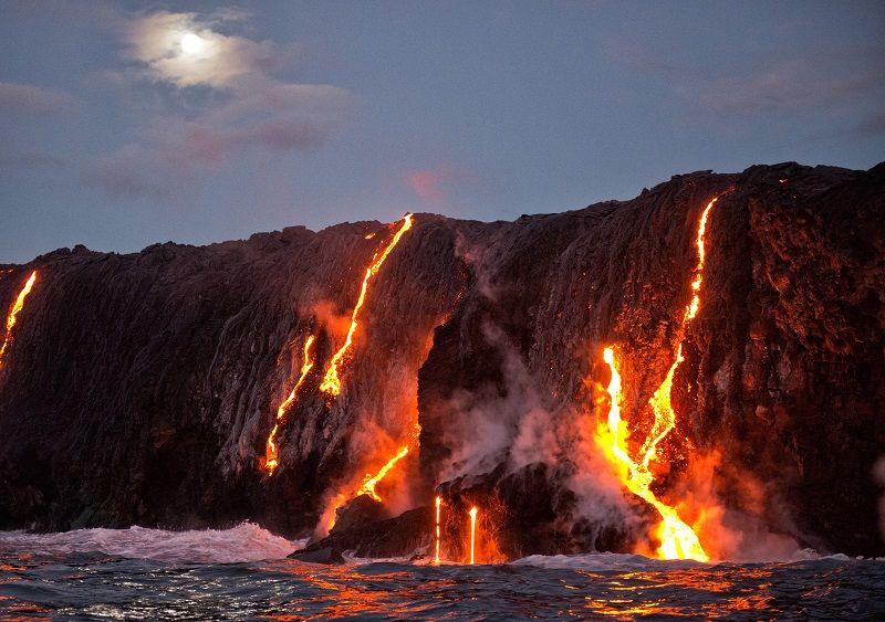 Kilauea Volcano Lava cm